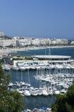 南戛纳法国的海滨广场 免版税库存图片