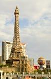 南拉斯维加斯大道小条艾菲尔铁塔巴黎赌博娱乐场 库存图片