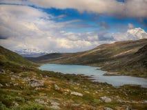 从南挪威的山的Lakeview 库存照片
