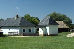南摩拉维亚的老农村宅基 免版税库存照片