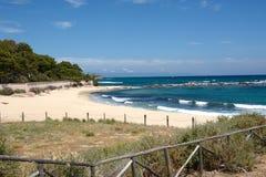 南撒丁岛海滩 免版税库存图片