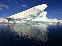 南极冰川和反射 免版税库存照片