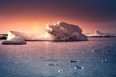 南极冰川 图库摄影
