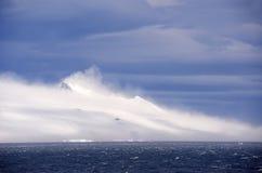南极合理有风 库存照片