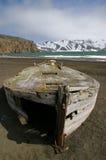 南极洲小船欺骗海岛捕鲸 免版税图库摄影