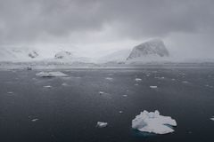 南极洲恶劣天气 库存图片