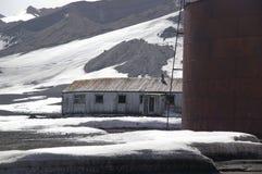 南极洲欺骗海岛废墟 库存图片