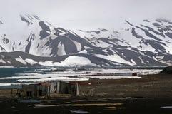 南极洲欺骗海岛废墟 免版税图库摄影