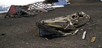 南极洲欺骗海岛废墟 免版税库存照片