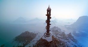 南极洲灯塔幻想 库存图片