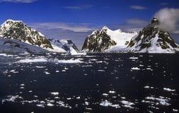 南极洲通道lemaire 库存图片