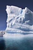 南极洲-冰山- Cuverville海湾 图库摄影