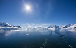 南极海洋冰风景 库存照片