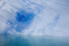 南极蓝色冰山 免版税图库摄影