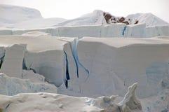 南极裂化的冰川 库存图片