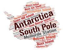 南极洲上面旅行目的地词云彩 免版税图库摄影