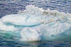 南极洲-冰山纹理  免版税库存图片