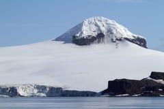 南极洲冰川山 库存照片
