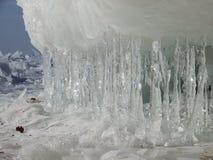 南极洲水晶冰被采取的照片架子 库存照片