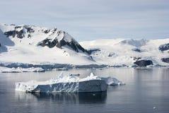 南极洲的海岸线有冰层的 免版税图库摄影