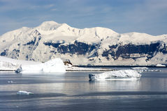 南极洲的海岸线有冰层的 库存图片