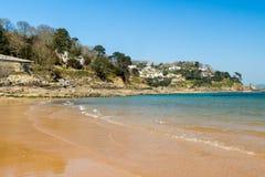 南沙子海滩Salcombe 免版税库存照片