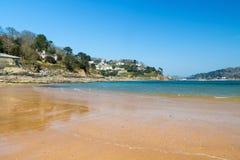 南沙子海滩Salcombe 免版税图库摄影