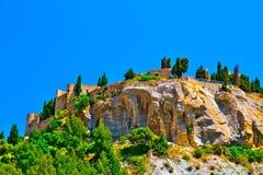 南法国的小山 免版税库存图片