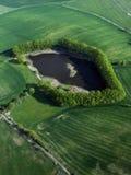 南波希米亚的池塘 免版税库存照片