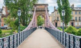 南波特兰街吊桥在格拉斯哥,苏格兰 库存照片