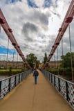 南波特兰街吊桥在格拉斯哥,苏格兰 图库摄影