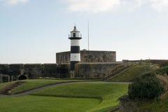 南海城城堡和灯塔,汉普郡,英国 库存照片