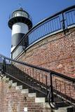 南海城灯塔和楼梯 库存照片