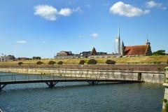 南海城防御护城河 汉普郡 免版税库存图片