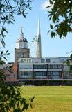 南海城 汉普郡 大三角帆和大教堂 免版税库存照片