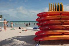 南海滩在基韦斯特岛,佛罗里达 库存图片