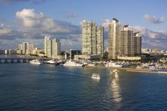 南海滩的港口 库存照片