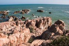 南海的海岸 免版税库存图片
