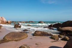 南海的海岸 免版税库存照片