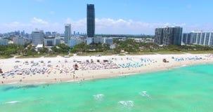 南海滩,迈阿密海滩 佛罗里达 鸟瞰图 股票录像