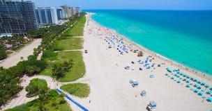 南海滩,迈阿密海滩 佛罗里达 鸟瞰图 免版税图库摄影
