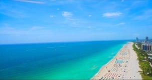 南海滩,迈阿密海滩 佛罗里达 鸟瞰图 图库摄影