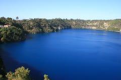南澳洲蓝色gambier的湖mt 图库摄影