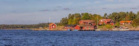南瑞典的海岸 库存图片