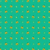 南瓜和糖果万圣夜无缝的背景传染媒介 免版税库存照片