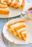 南瓜和酸奶干酪砂锅 库存图片