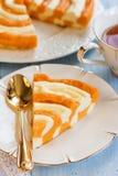 南瓜和酸奶干酪砂锅 免版税图库摄影