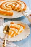 南瓜和酸奶干酪砂锅 免版税库存照片