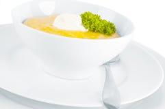 南瓜奶油色汤 免版税库存图片