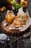 南瓜开胃菜用面包 库存图片